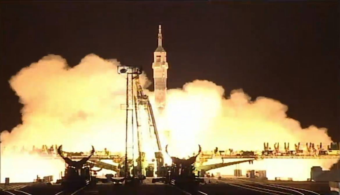 One-Year Mission Crew Launch