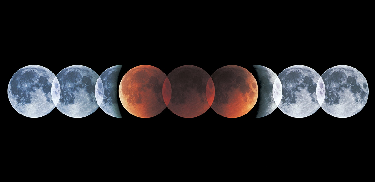 July 2000 Lunar Eclipse Composite Photo