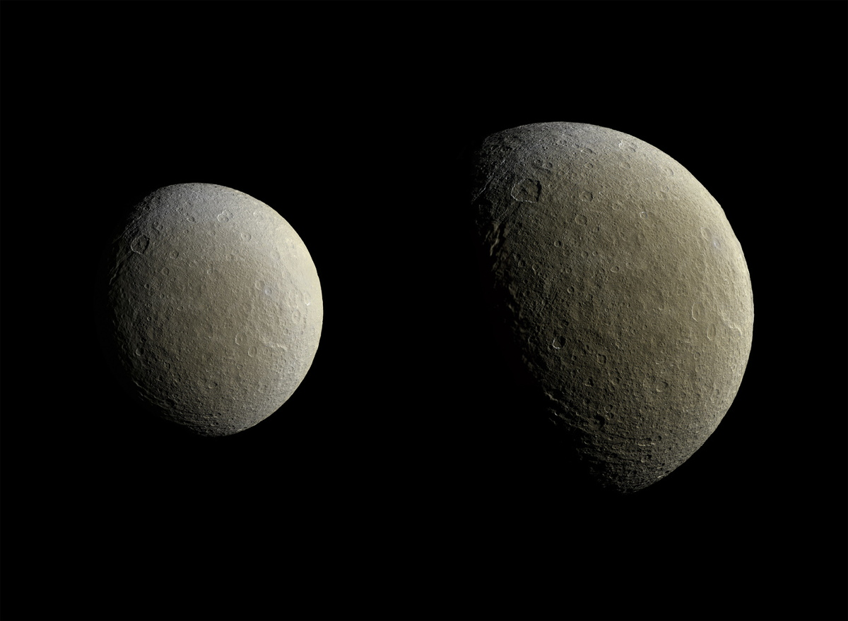 Saturn's Moon Rhea in March 2015