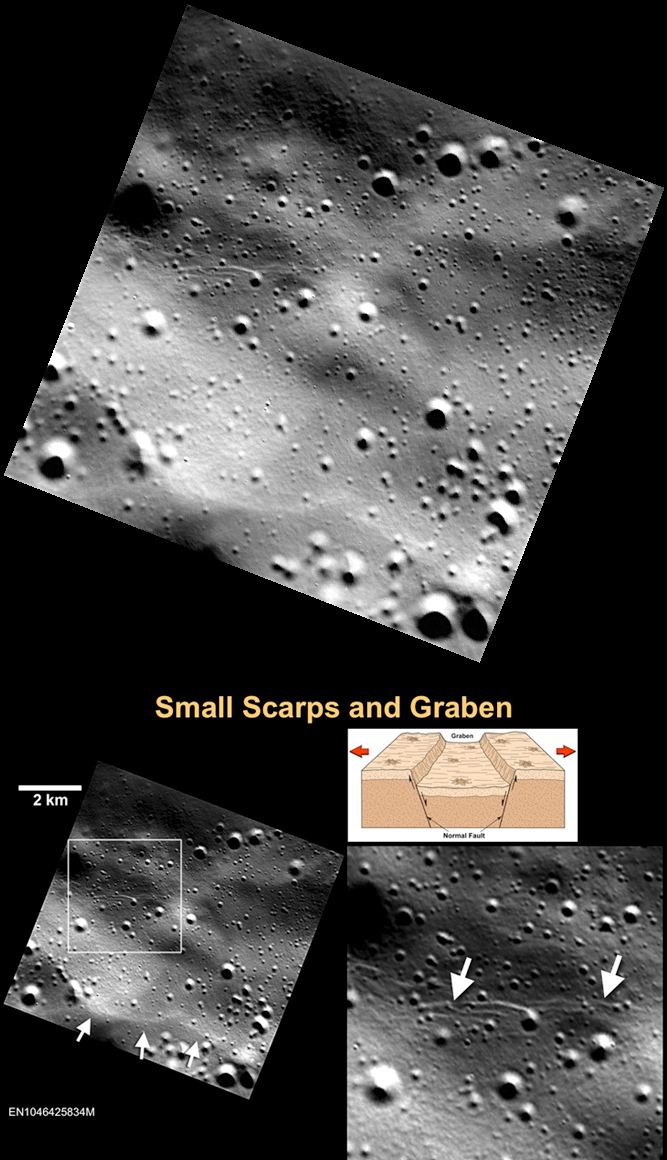 Small Scarps and Graben on Mercury