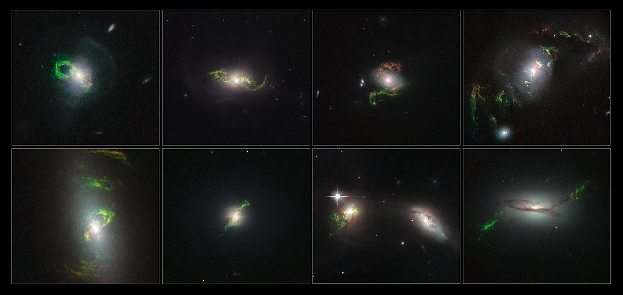 Glowing Green Space Cloud Photos by the Hubble Space Telescope