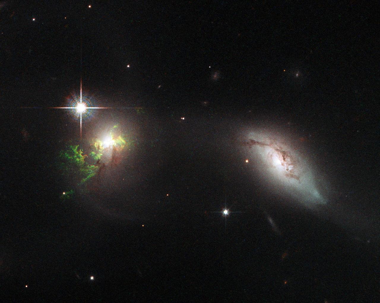 Green Filament in Galaxy UGC 11185