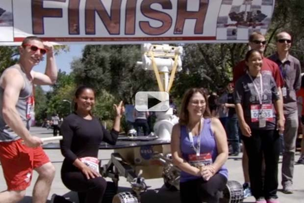 NASA 'JPLers' Run Marathon To Celebrate Mars Opportunity Feat | Video
