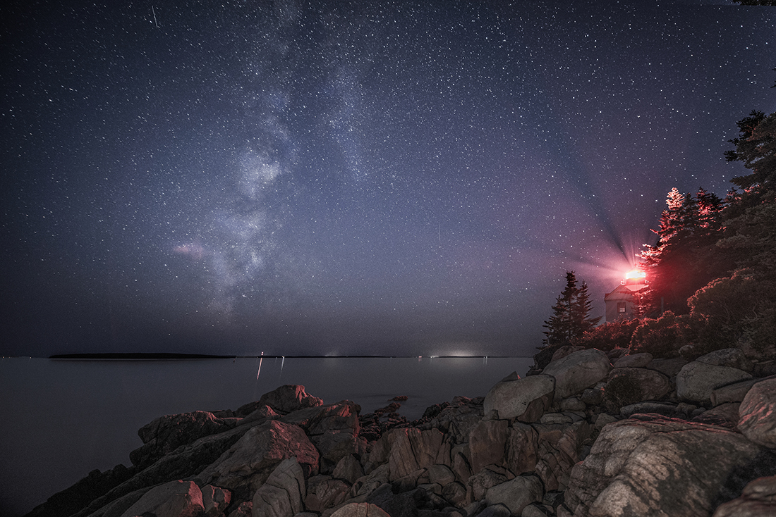 Milky Way Over Bass Harbor Head Lighthouse