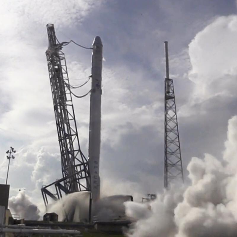 SpaceX Falcon 9 CRS-6 Static Fire