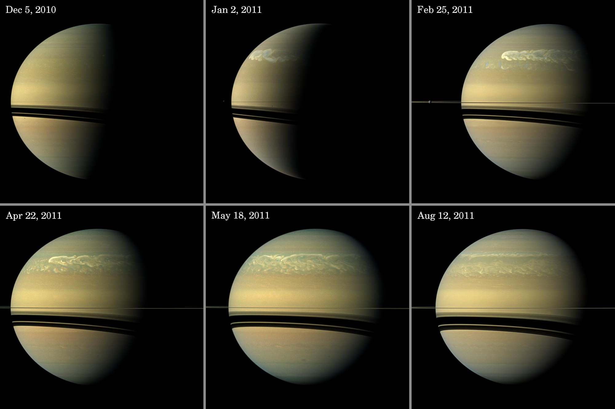 Mystery of Saturn's Epic Planet-Encircling Storms Explained