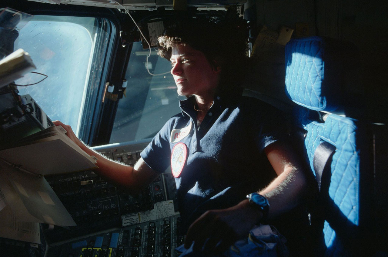 Sally Ride Aboard Challenger in 1983