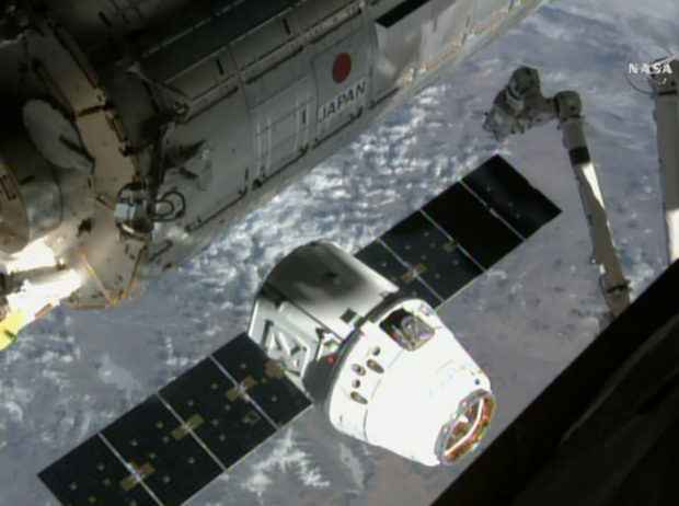 SpaceX's Dragon Cargo Capsule Arrives at Space Station