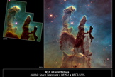 The original Hubble photo of the Pillars of Creation in the Eagle Nebula captured the world's imagination. Upgrades to the telescope allowed even that beautiful image to be improved.