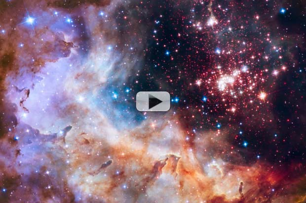 Amazing Westerlund 2 Star Cluster Is Hubble's 25th Anniversary Image | Video