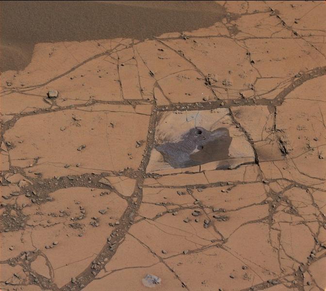 Curiosity Drills Holes on Mars