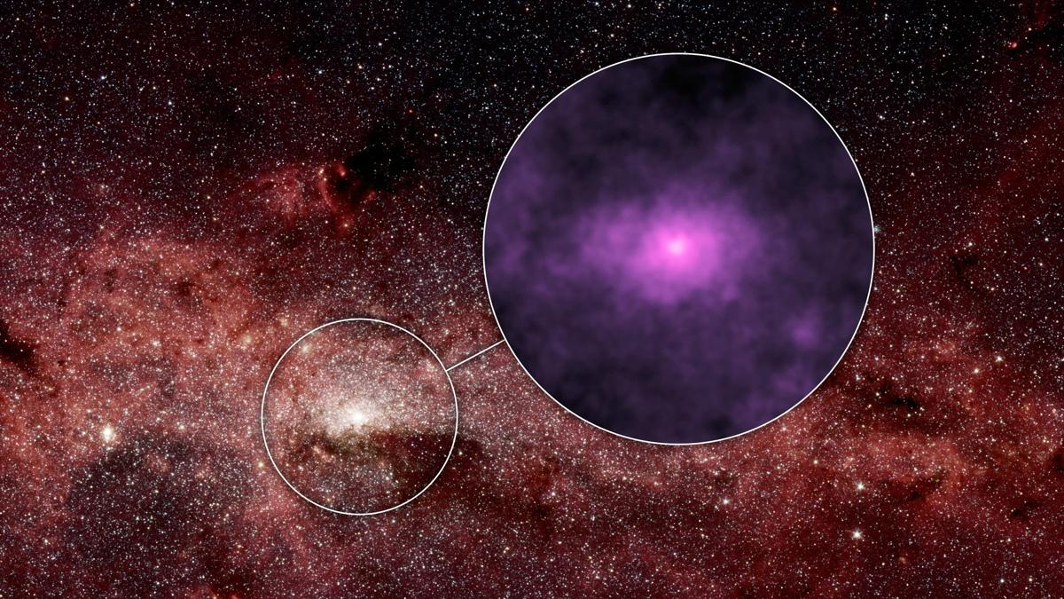 Hub of the Milky Way Galaxy
