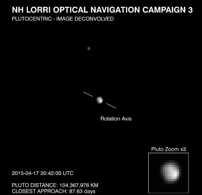 Pluto Seen by New Horizons, April 17, 2015