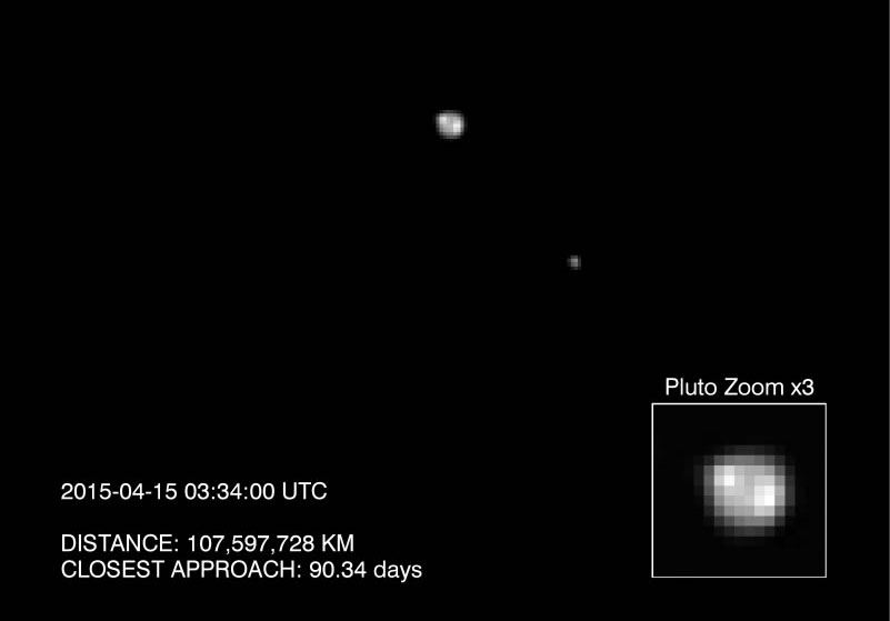 Pluto and Charon Captured by New Horizons Probe