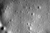 This is the last photo captured and sent to Earth by NASA's MESSENGER Mercury probe. The spacecraft took the image on April 30, 2015, shortly before crashing into Mercury's surface in a death dive that ended four years of operations at the solar system's innermost planet.