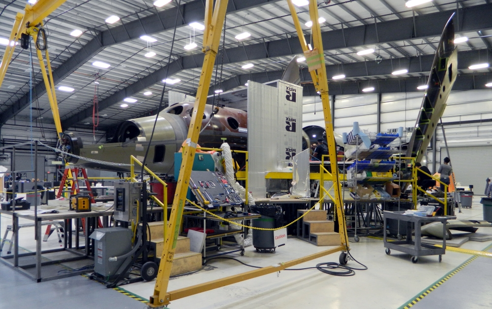 Next SpaceShipTwo Under Construction