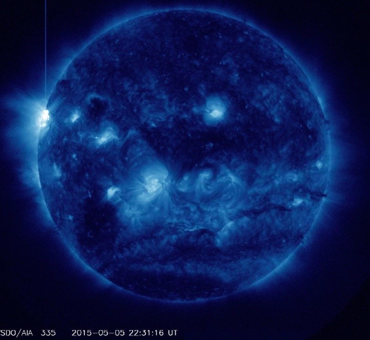 X2.7 Solar Flare of May 5, 2015