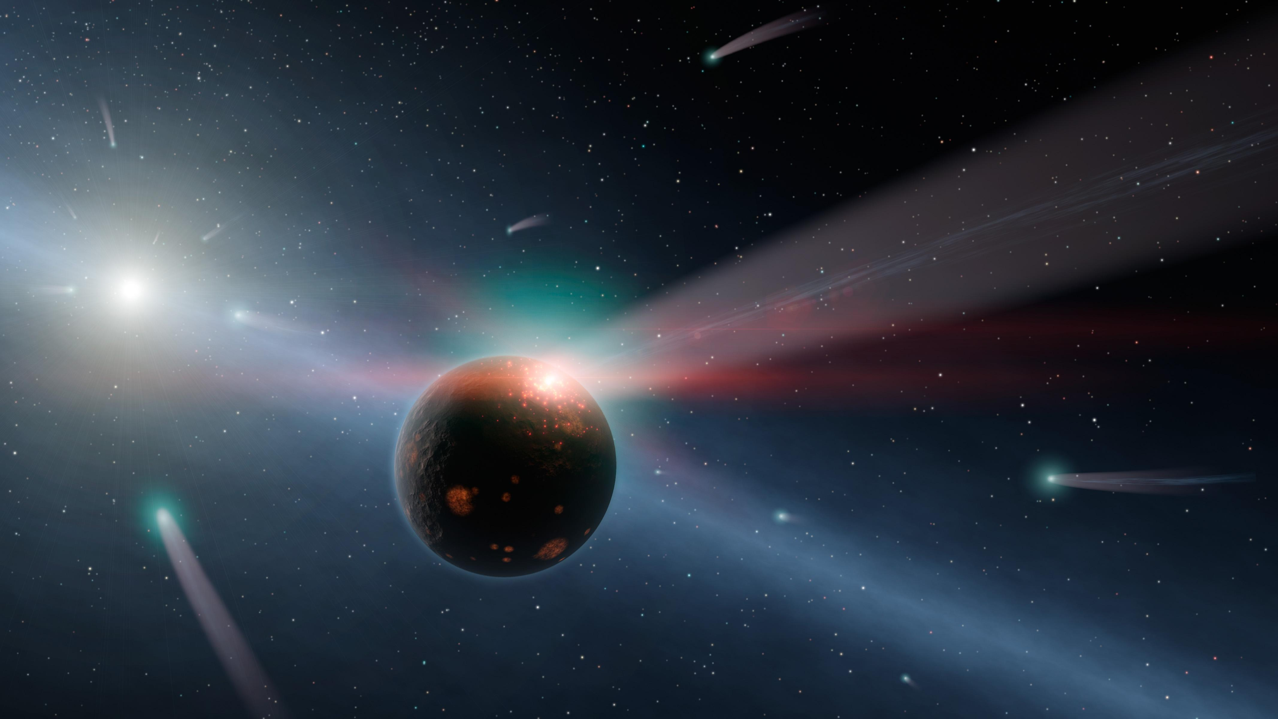Late Heavy Bombardment Comet and Asteroid Impacts
