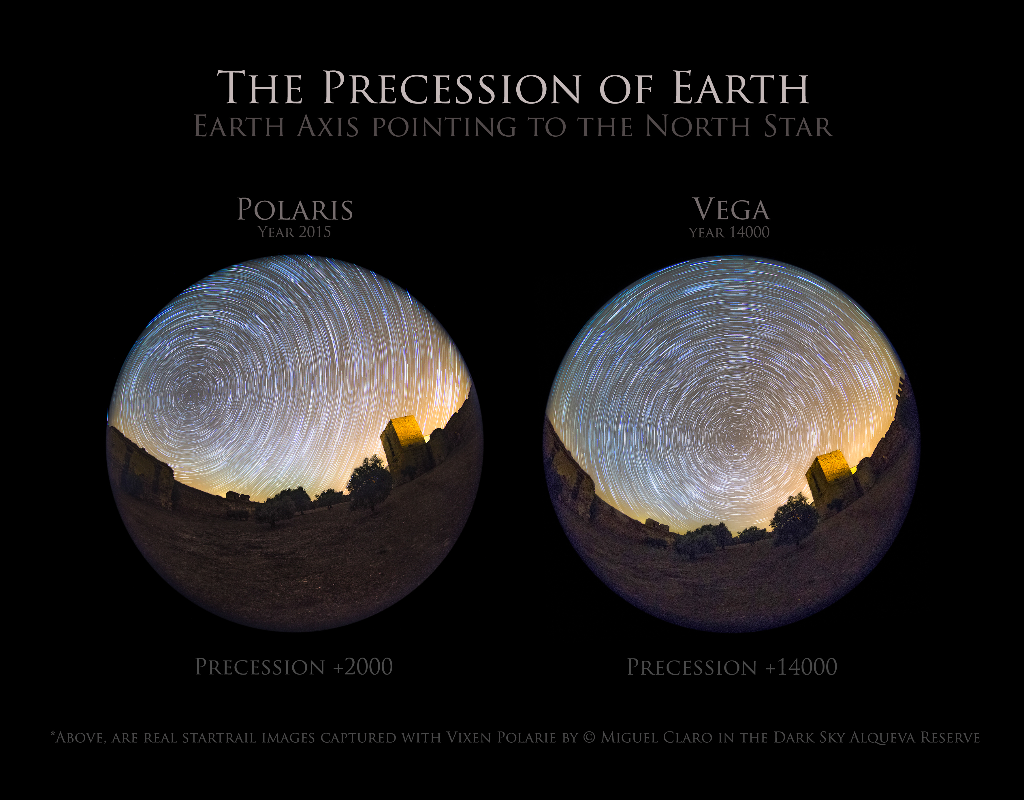 As the World Turns: Night Sky Photographer Snaps Earth's Precession