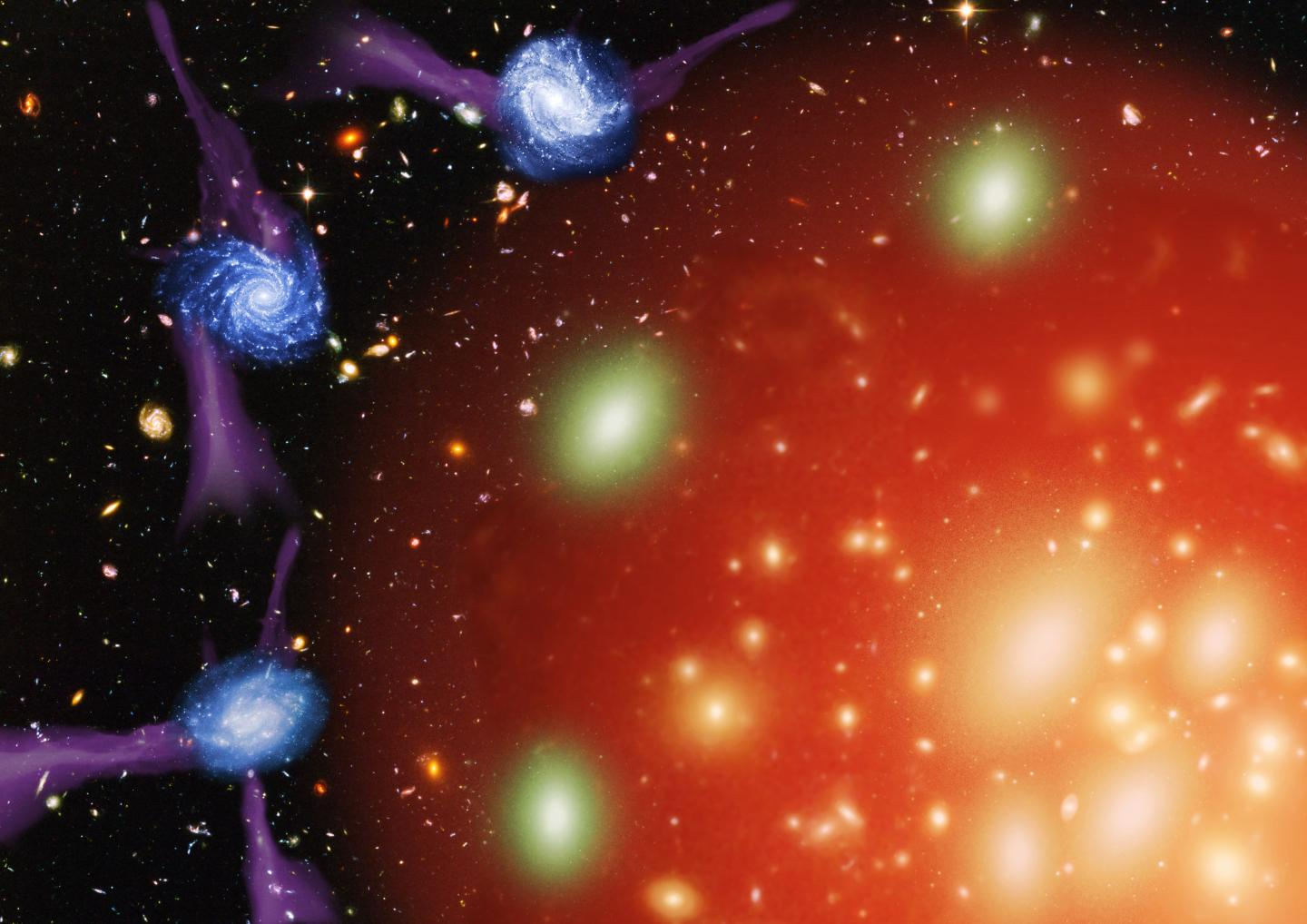 Cosmic 'Murder Mystery' Solved: Galaxies Are 'Strangled to Death'