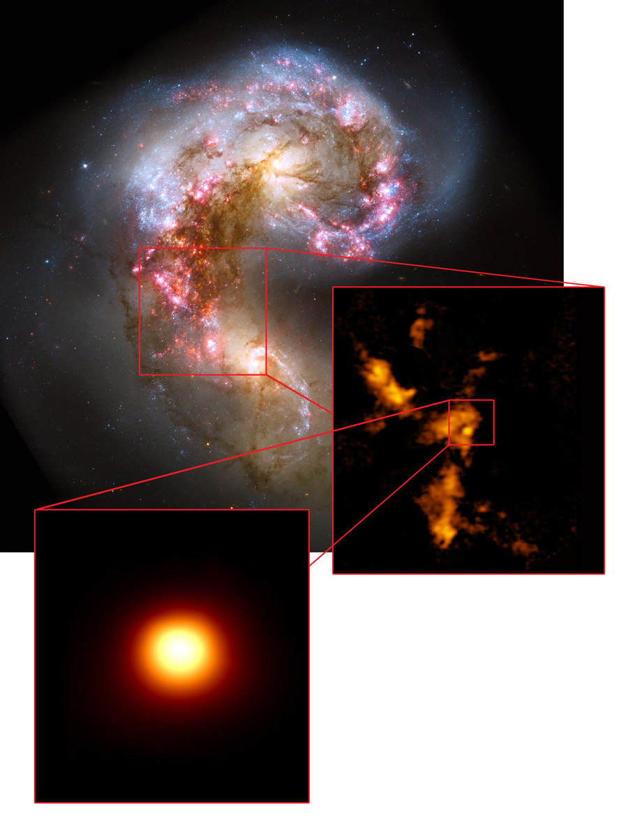 The Antennae galaxies with ALMA