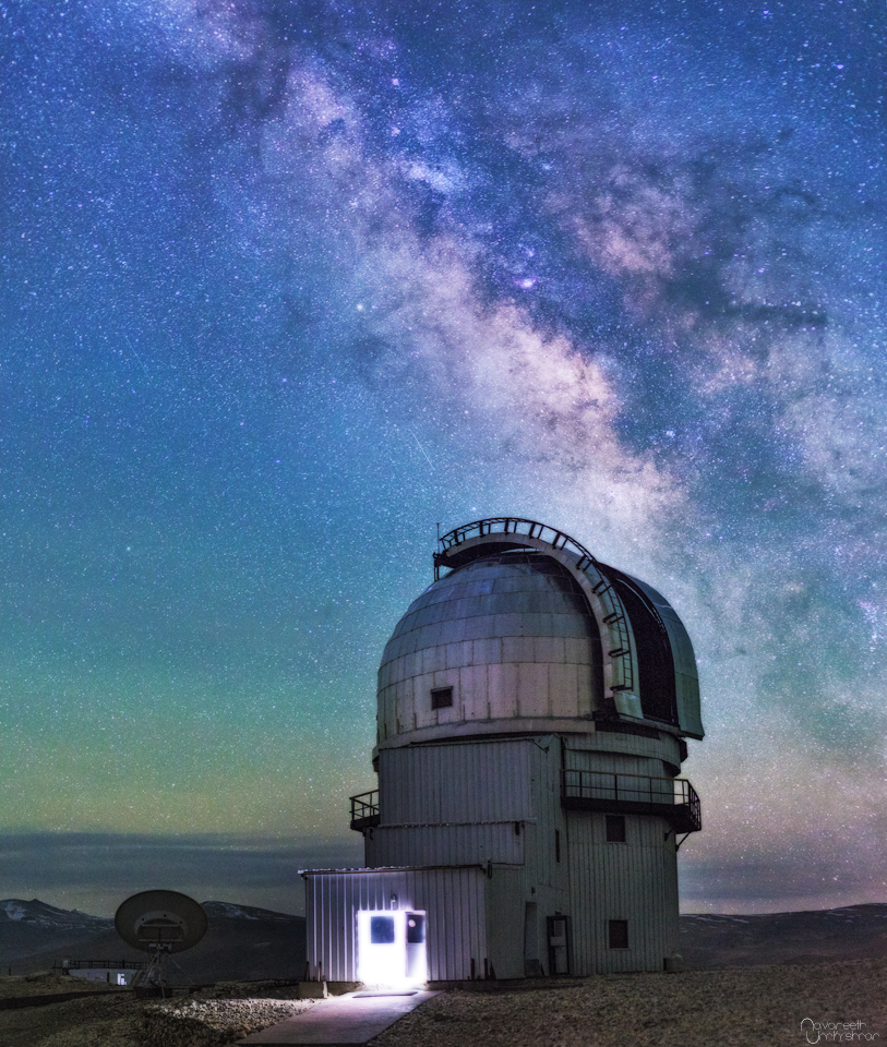 Milky Way Over Indian Astronomical Observatory