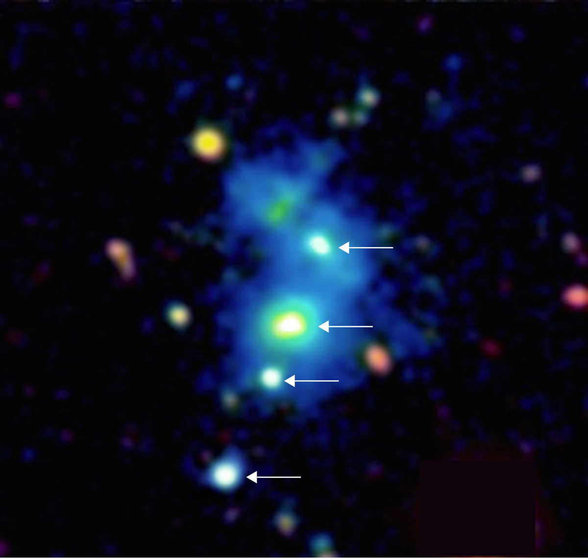Rare Quasar Quartet Is the First of Its Kind Ever Seen