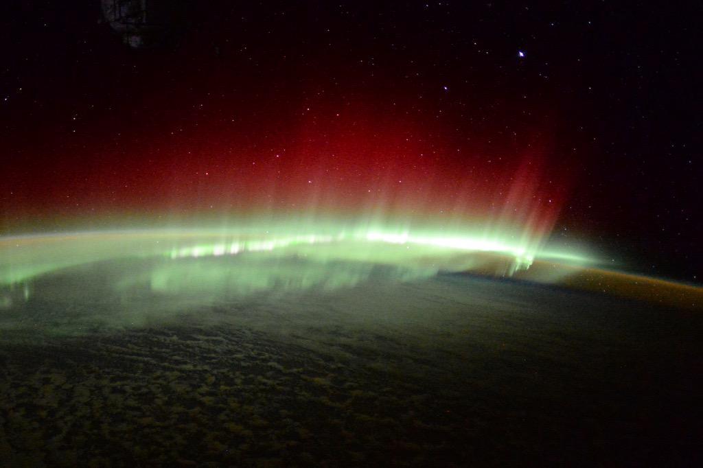 Aurora Australis West of Australia