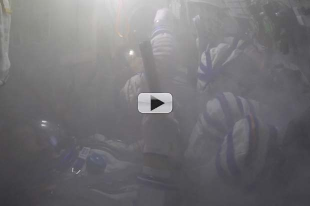 Soyuz Fire Simulated For Spaceflight Training | Video