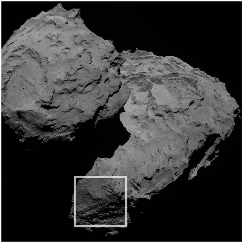 Three Boulders on Comet 67P/C-G