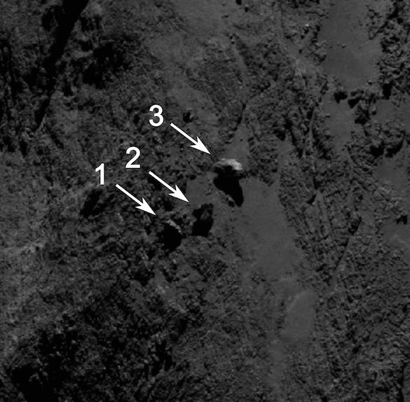 Boulders on Comet 67P/C-G