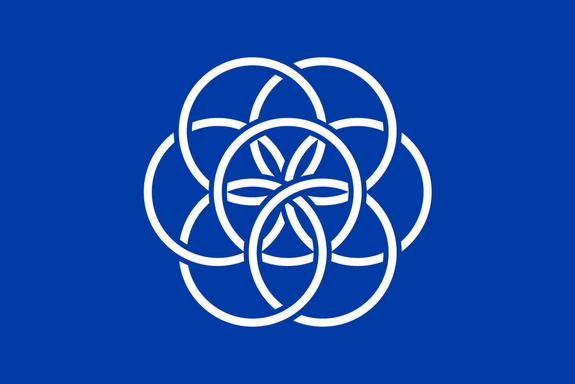 The proposed International Flag of Planet Earth by student Oskar Pernefeldt of Beckmans College of Design in Stockholm, Sweden.