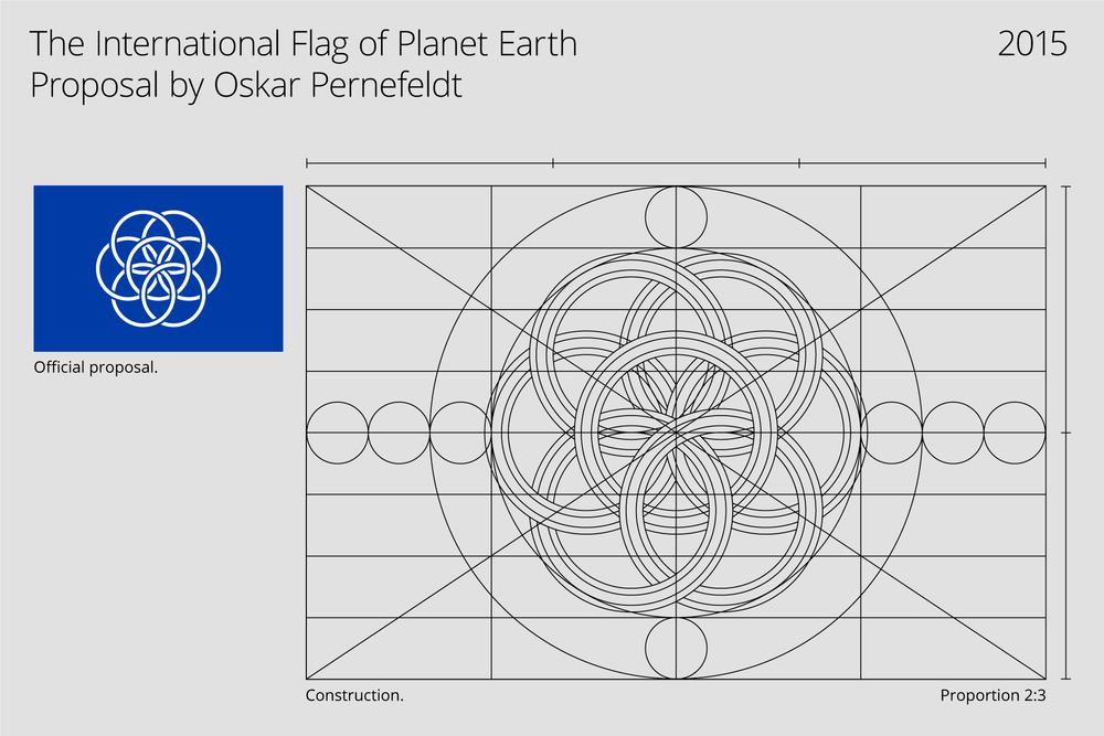 International Flag of Planet Earth Proposal by Oskar Pernefeldt
