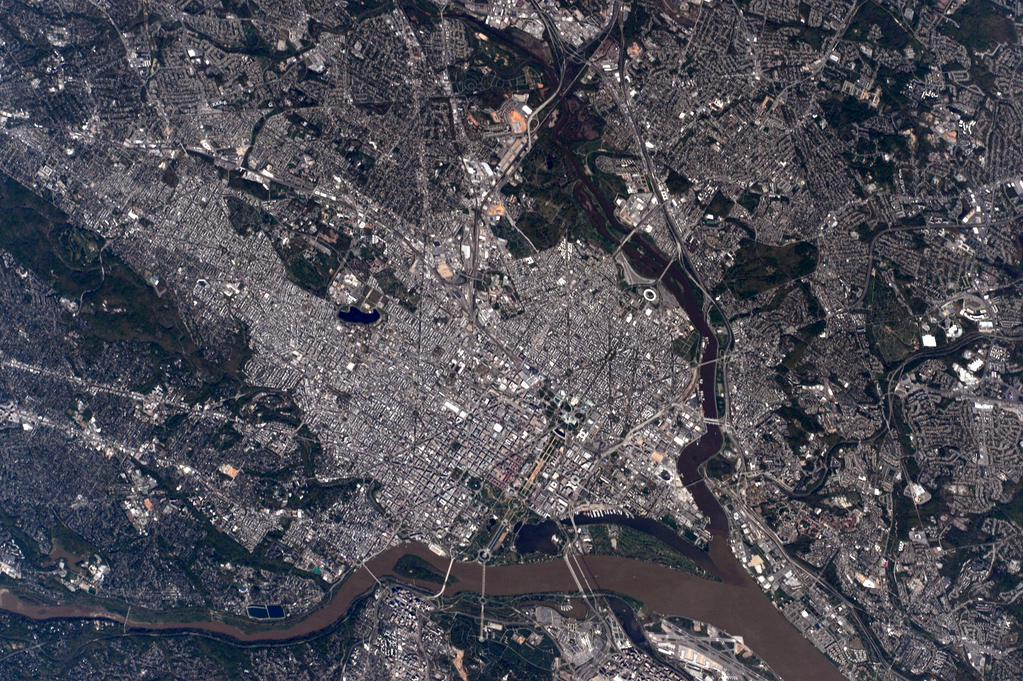 Washington, D.C., as Seen from the International Space Station