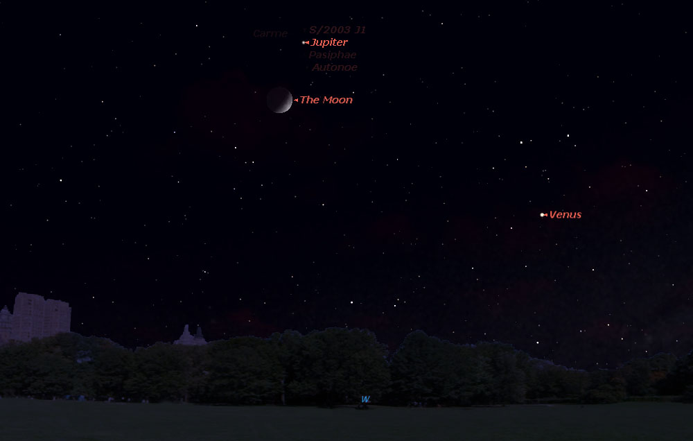 See Jupiter and the Moon in Night Sky Spectacle Tonight