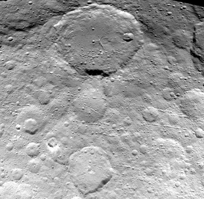 Dawn View of Ceres Craters