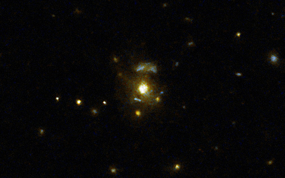 Galaxy Crashes May Give Birth to Powerful Space Jets