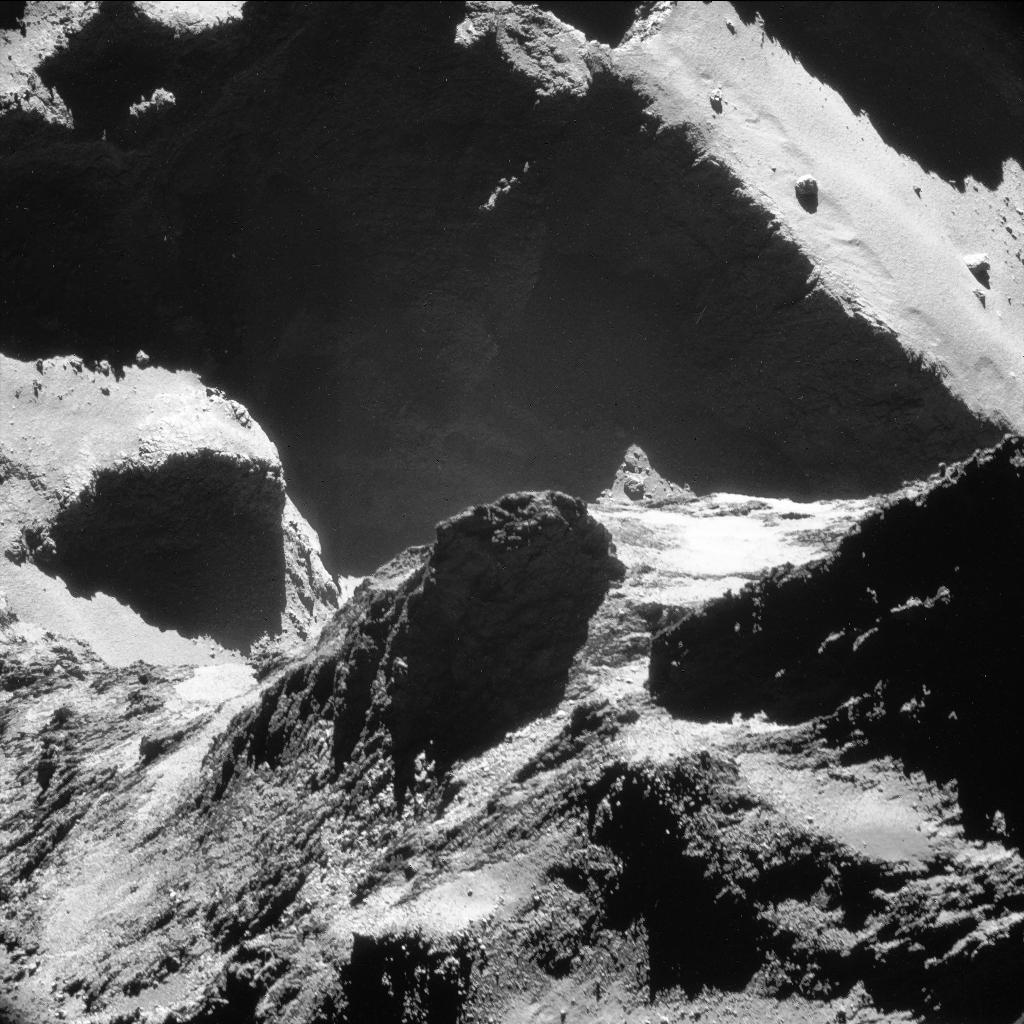 Rosetta navigation camera image of Comet 67P/Churyumov-Gerasimenko