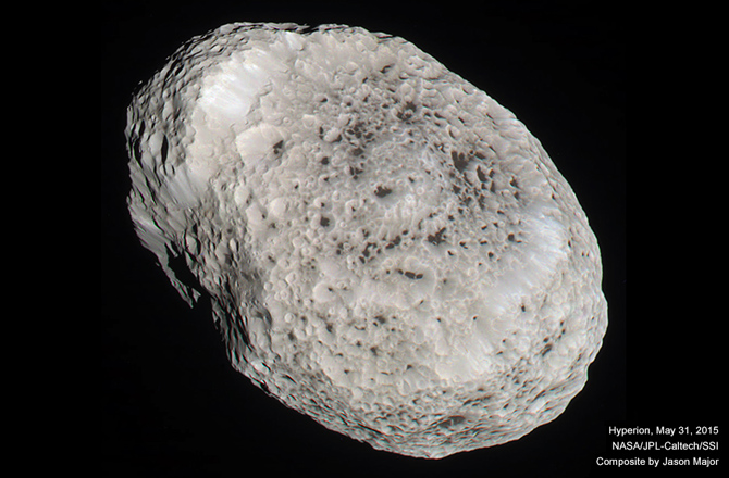 Color-Composite Image of Saturn's Moon Hyperion.