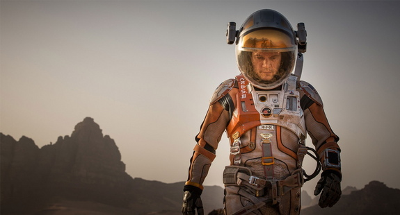 Matt Damon appears as a stranded astronaut on Mars in 'The Martian' motion picture, coming to theaters in November 2015.