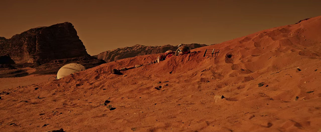 The Martian: Mark Watney on Mars