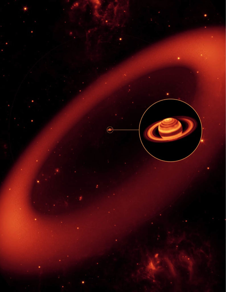 Biggest Ring Around Saturn Just Got Supersized