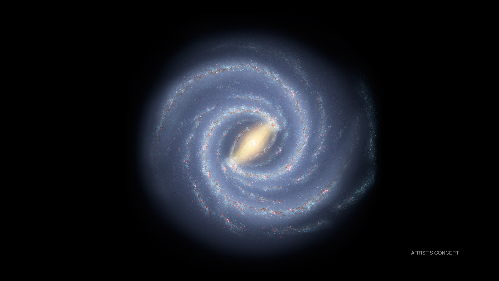 Artist's conception of the Milky Way galaxy