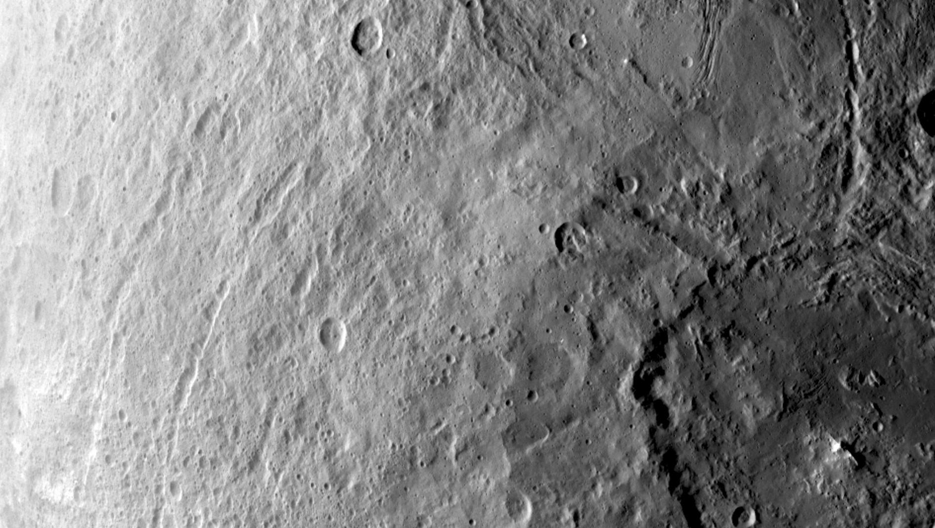 Dawn Sees Giant Crater on Ceres