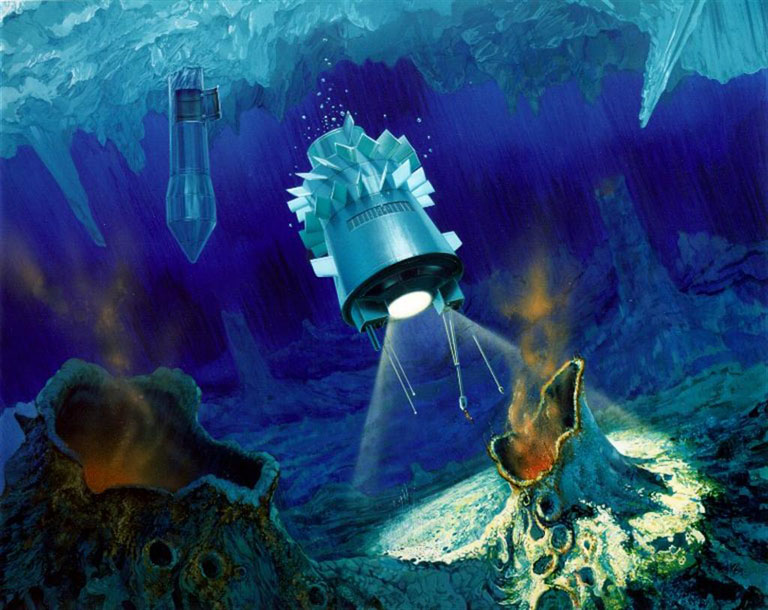 Tunneling Cryobot Robot May Explore Icy Moons