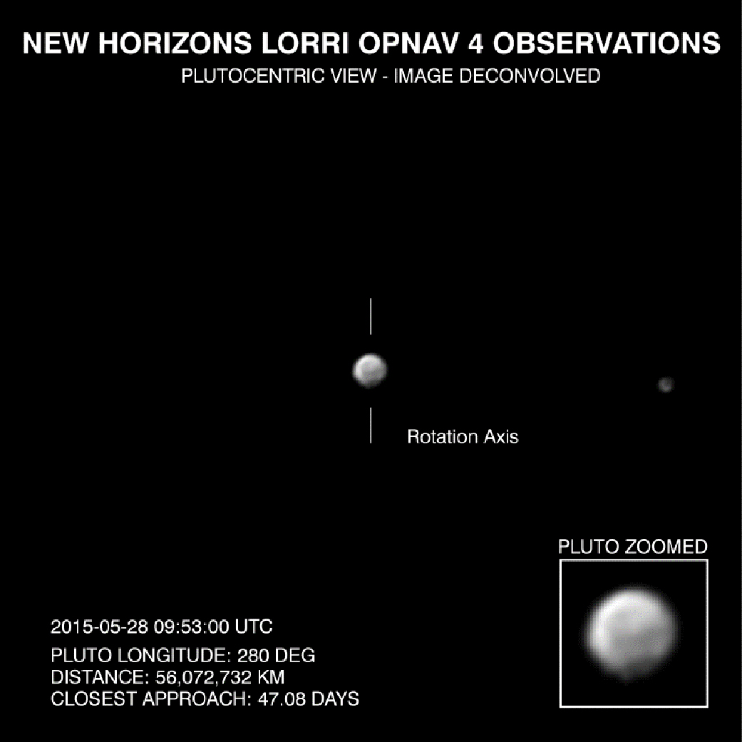 New Horizons' Image of Pluto Deconvolved