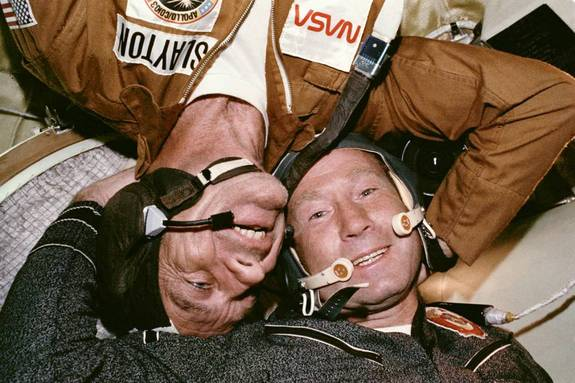 Apollo-Soyuz Test Project marked the historic first major example of international space cooperation in which the United States and Soviet Union, Cold War rivals, orchestrated an in-space docking on July 17, 1975.