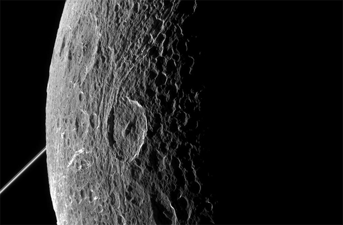 Cassini Image of Dione