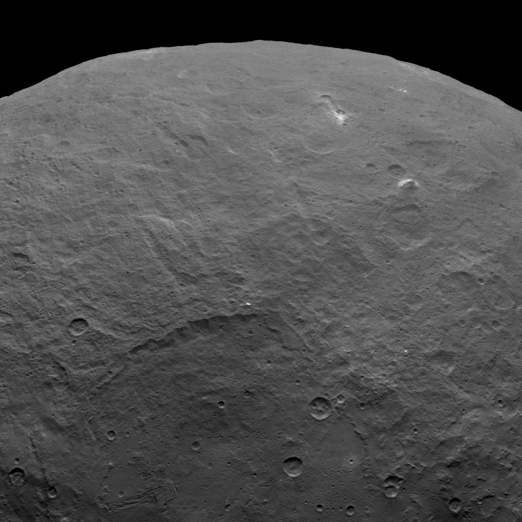 Ceres Pyramid-Shaped Mountain