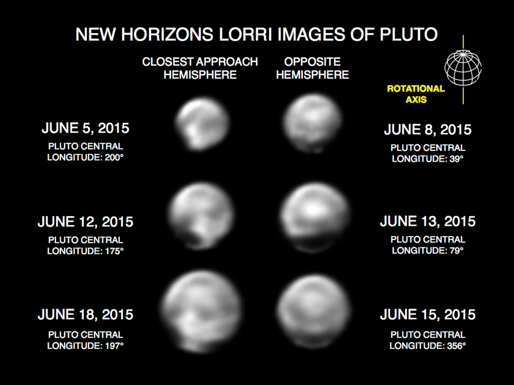 New Horizons Spies Surface Features on Pluto